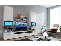 MODERN WALL UNIT LUMIA ,NEW, HIGH QUALITY TV UNIT 2X CABINET, HANGING SHELF MATT, Wardrobe