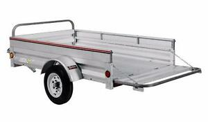 4X7 All Galvanized  Trailer Reduced Prices  Includes Extended 2 Year Structural Warranty
