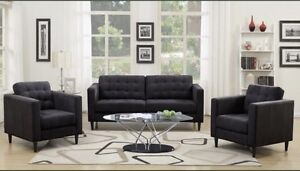 CLEAR OUT!!! Dark Grey Fabric Living Room Set