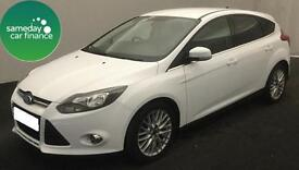 £179.88 PER MONTH WHITE 2012 FORD FOCUS 1.6 ZETEC 5 DOOR DIESEL MANUAL