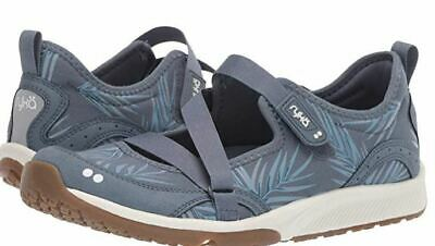 Ryka Adjustable Mesh Mary Jane Sneakers Spring Denim - NEW