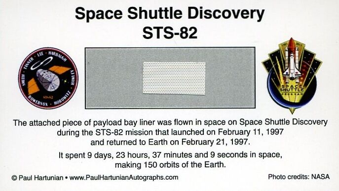 Own a Genuine Piece of Space Shuttle Discovery - Flown in Space - Just $14.95
