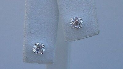 .50 CTS ROUND DIAMOND STUD EARRINGS 14K SOLID WHITE GOLD MADE IN USA