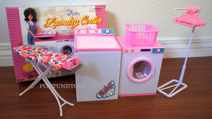 NEW GLORIA DOLL HOUSE FURNITURE Laundry PLAYSET (96001)
