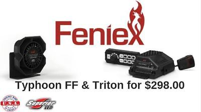 Feniex Bundle Triton 100 Watt Speaker Tyhpoon Full Function Siren System Usa