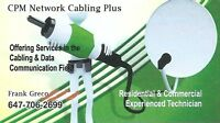 New Home/Office Construction Cabling/TV/Phones RG6-Cat5e-Cat6