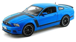 2013 Ford Mustang Boss 302 ~ Grabber Blue / black ~ 1:18 ~ Shelby Collectibles