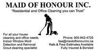 Maid Of Honour Inc. Cleaning Lady