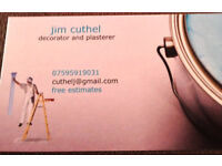 Jim Cuthel decorators and plasterers