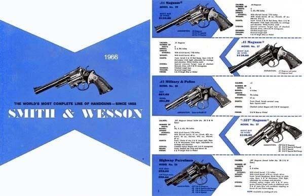 Smith & Wesson 1966 Gun Catalog