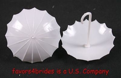 12 White Fillable Parasols Wedding Baby Shower Party Decorations Umbrella Favors