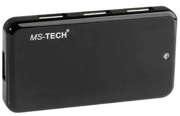 7 fach USB HUB - MS-TECH - LU-207 - incl. Netzteil