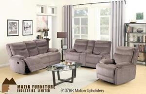 Brown Motion upholstery sofa and loveseat (MA380)