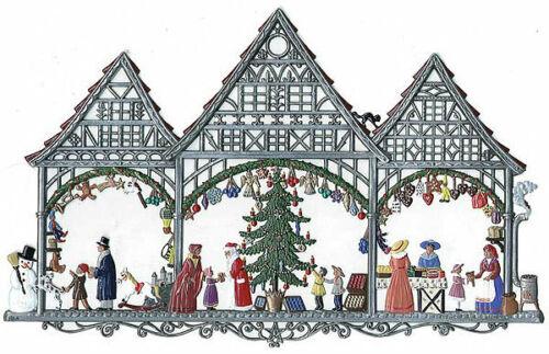 "WILHELM SCHWEIZER GERMAN ZINNFIGUREN Christmas Market (10"" x 6.5"")"