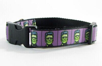Dog Frankenstein (Frankenstein, dog collar,handmade, adjustable, buckle collar,1