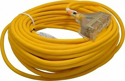 Southwire 125 VAC, 15 Amp, 100 Ft. Long Extension Cord 12/3 Wire Gauge, 1 Rec...