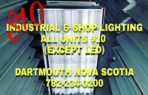 300+ Industrial and shop Lights - ALL UNITS $10