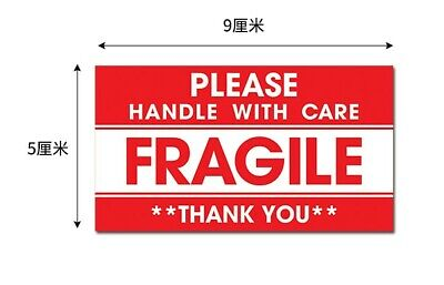 100200300pc Fragile Handle With Care Self Adhesive Warning Sticker Labels Usa