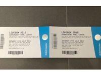 2x Saturday tickets for lovebox
