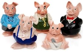 Full set nat west pigs will original packaging and stoppers
