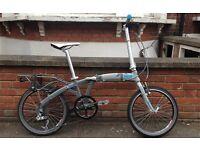 "Excellent Condition - KANSI Urban Folding Bike Kansi 9 gears 20"" wheels, RRP £700+"
