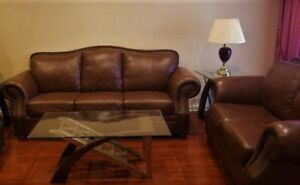 "High End "" Campio "" Leather Sofa Set, Delivery Available"