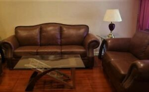 """High End """" Campio """" Leather Sofa Set, Delivery Available"""