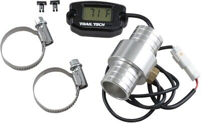 Trail Tech Surface Mount Temperature Meter with Water Hose Sensor Black 25.00mm