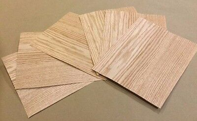 Red Oak Wood Veneer Rawunbacked - Pack Of 6 9 X 9 Sheets 3 Sq Ft