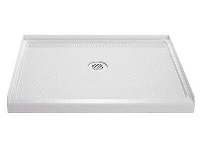Lone Threshold Shower Base 36 x 48. Center drain. White
