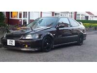 Honda civic coupe ej6 em1 ek4 ek9 ej4 ej9 dc2 integra b18 b16 b18c4 b16a2 conversion modified show