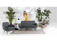 Made Jonah 'Garden' Sofa and Armchairs in Rattan Grey