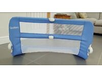 Blue Lindam baby bed guard excellent condition used a few times