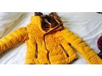 ZARA Mustard Puffer Coat