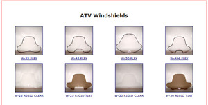 +++ ATV AND UTV FRONT AND REAR WINDSHIELDS+++