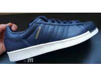 Adidas superstar navy size 9 (New)