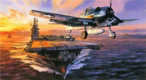 Scramble for the Marianas by Nicolas Trudgian signed by US Navy Hellcat Aces