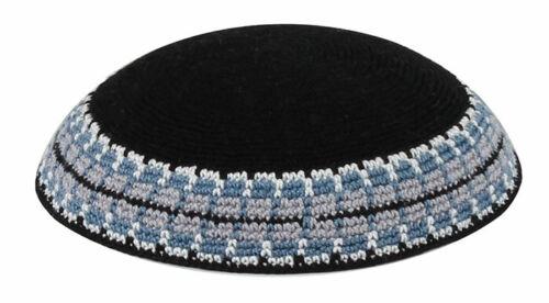 Black Knitted Yarmulke Yamaka Kippah Kipot kipa hat Shabbat 6.5 inch 17 cm