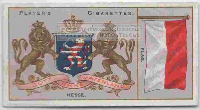 Hesse Flag Banner Emblem Germany 110+ Y/O Ad Trade Card