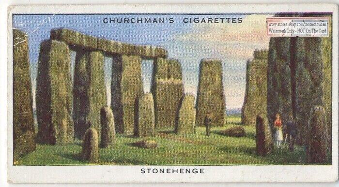 Stonehenge Prehistoric Salisbury Plain England Vintage Trade Ad Card