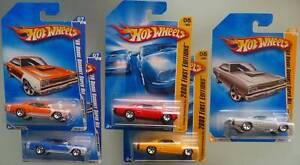 Five Hots Wheels '69 Dodge Coronet Super Bees MOC Ocean Reef Joondalup Area Preview