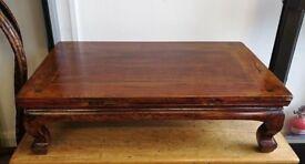 Antique elm tea table