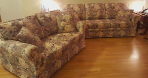 Floral Loveseat and Chesterfield w/ cushions