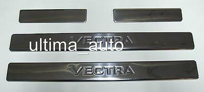 CHROME DOOR SILL PROTECTOR COVERS FOR OPEL VAUXHALL VECTRA C