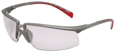 3m Privo Safety Glasses With Silverred Frame And Clear Anti-fog Lens