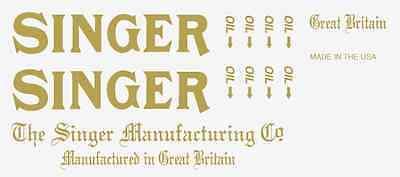 Singer Model 31- Commercial Sewing Machine Restoration Decals
