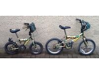 "Bike/Bicycle.2 x CHILDS BUMPER "" COMBAT "" BICYCLES.SUIT 3-5 YEARS"