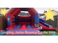 Jumping jacks bouncy castle hire