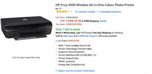 HP ENVY 4500 Print Scan Copy Photo