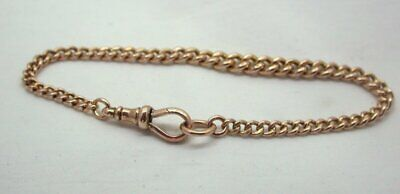 Antique Super Quality Gents / Ladies 9 carat Rose Gold Curb Link Albert Bracelet